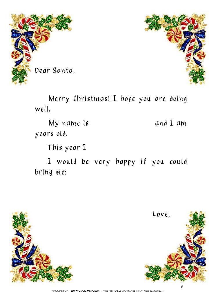 printable vintage ready letter to santa template 6