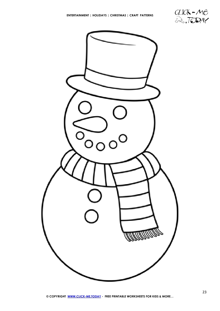 image about Snowman Patterns Printable named Absolutely free printable Lovable Snowman Craft Behavior - Xmas Craft