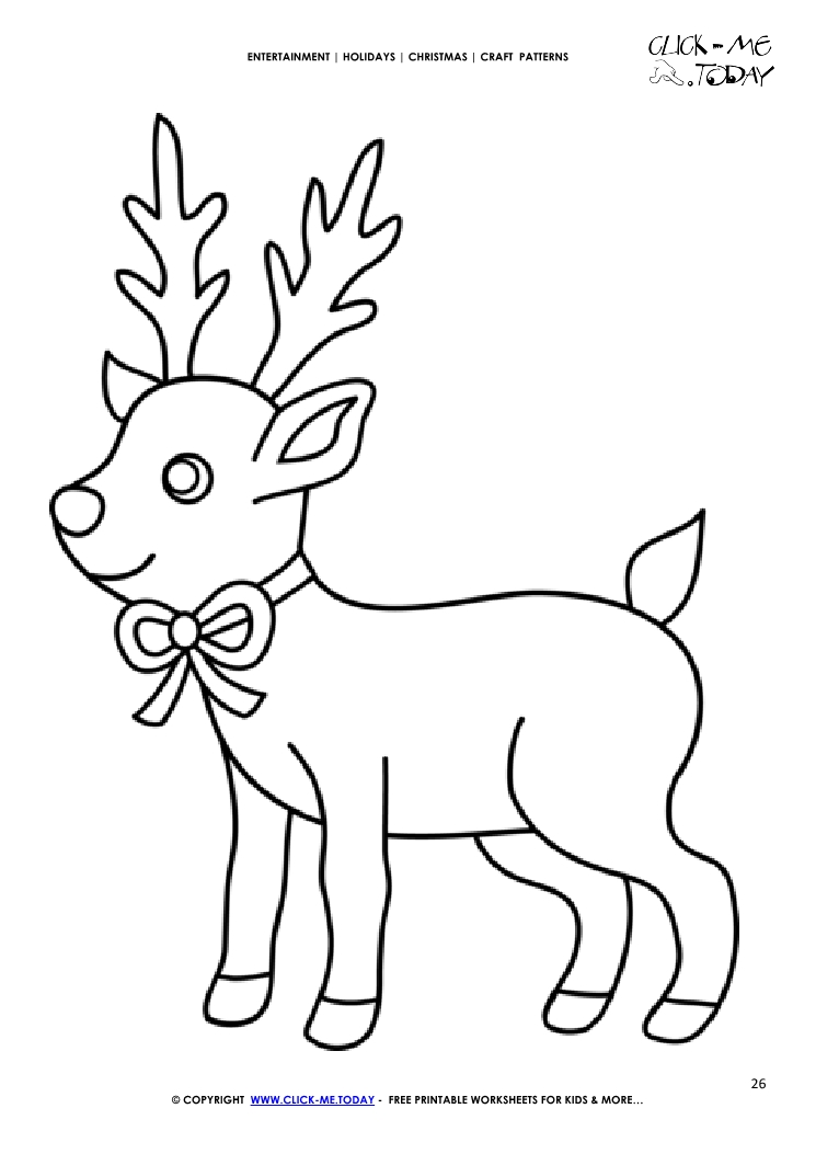 graphic about Reindeer Pattern Printable identified as Totally free printable Lovely Reindeer Craft Behavior - Xmas Craft