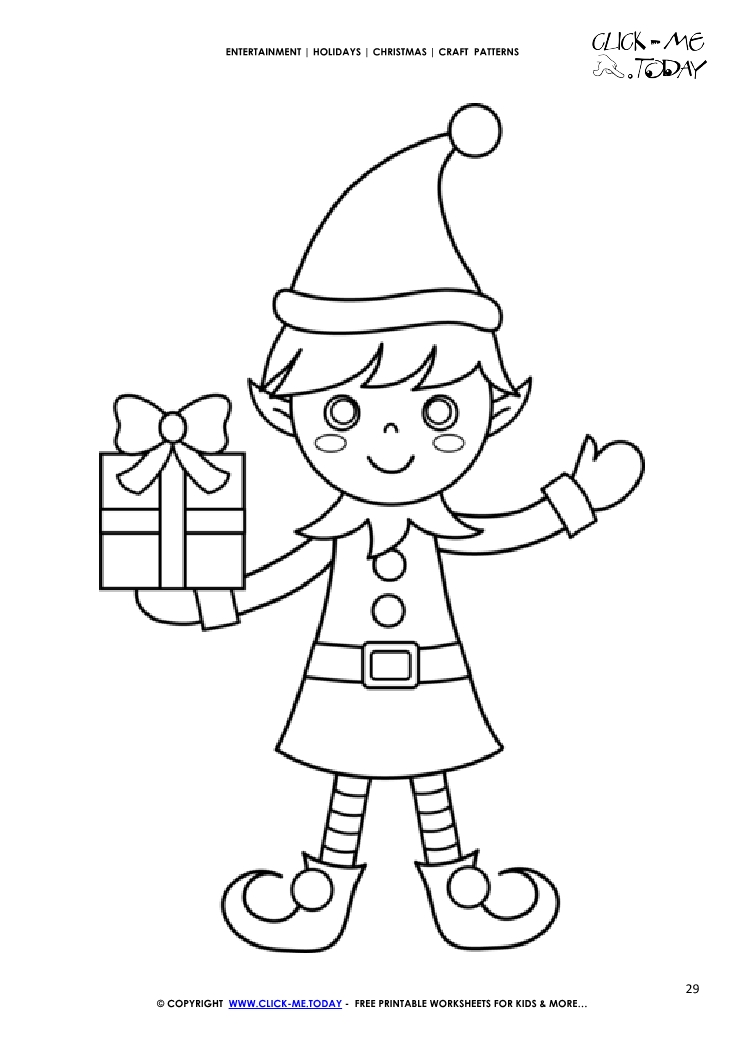 graphic about Elf Pattern Printable referred to as Absolutely free printable Lovely Elf Craft Habit - Xmas Craft