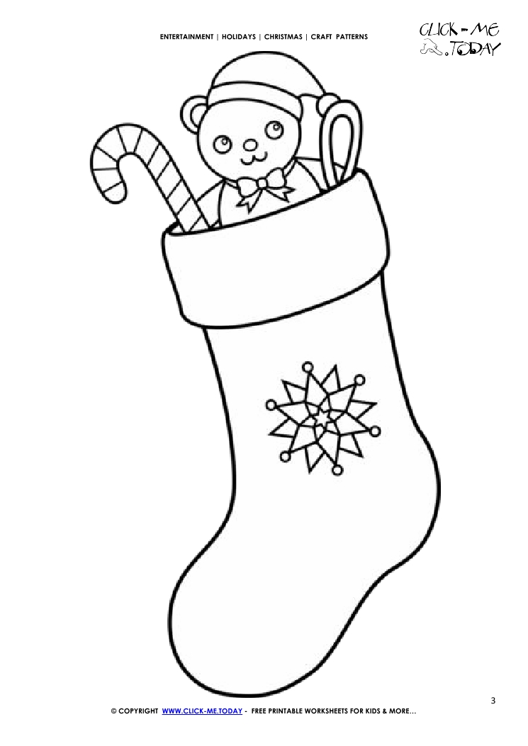 image about Christmas Stocking Printable referred to as Totally free printable Xmas Stocking Craft Behavior - Xmas