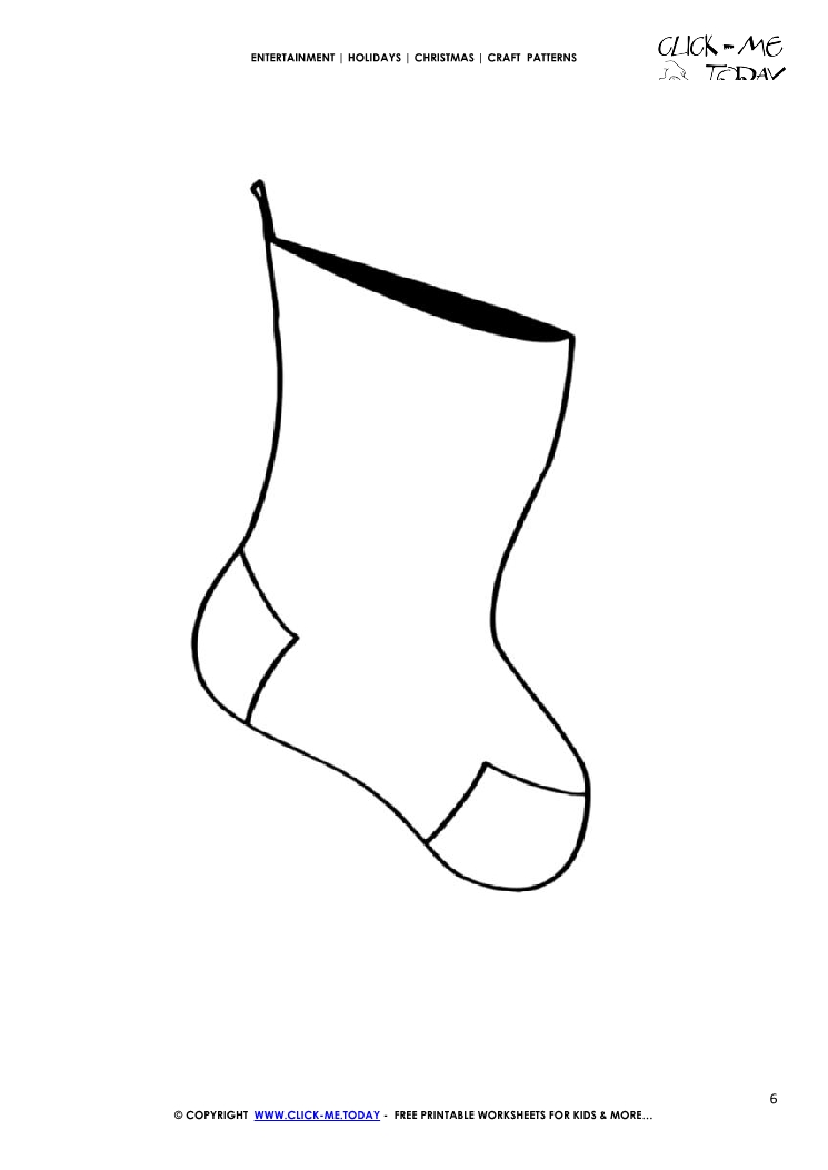 image regarding Stocking Pattern Printable called Absolutely free printable Very simple Stocking Craft Behavior - Xmas