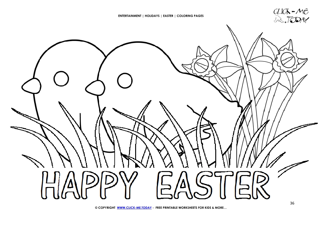 Easter Coloring Page 36 Chicken In Grass And Flowersrhclickmetoday: Coloring Pages Of Grass And Flowers At Baymontmadison.com