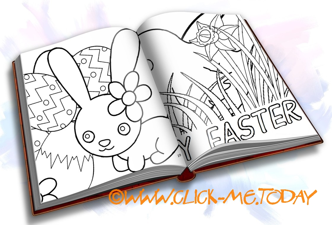 FREE EASTER COLORING PAGES PDF BOOKLET