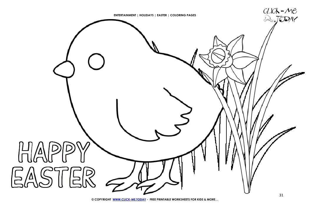 Printable greeting card happy easter coloring page   745x1053