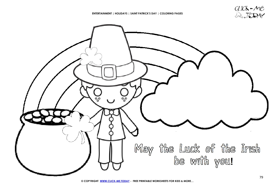St. Patrick's Day Leprechaun Coloring Page - Get Coloring Pages | 745x1053