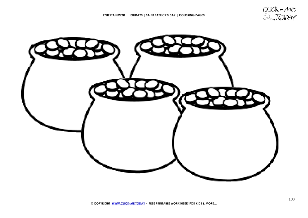 Coloring Page 103 Lots Of Pots Gold