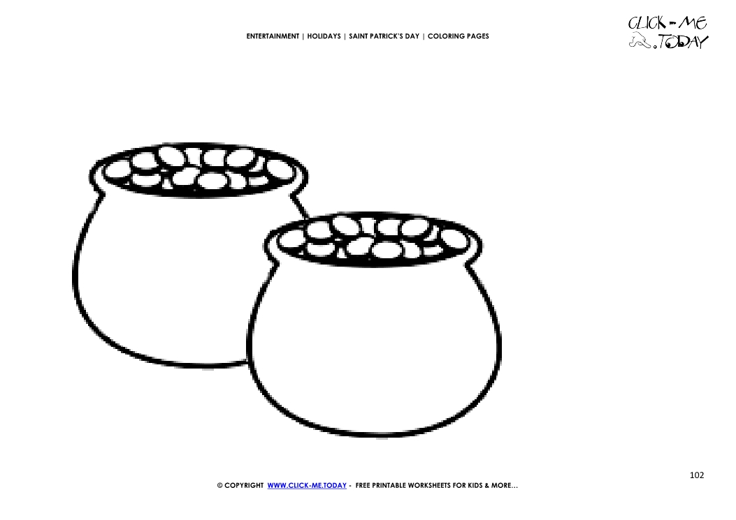 Coloring Page 102 Two Pots Of Gold