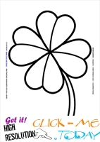 St. Patrick's Day Coloring page:34 Big Four Leaf Clover