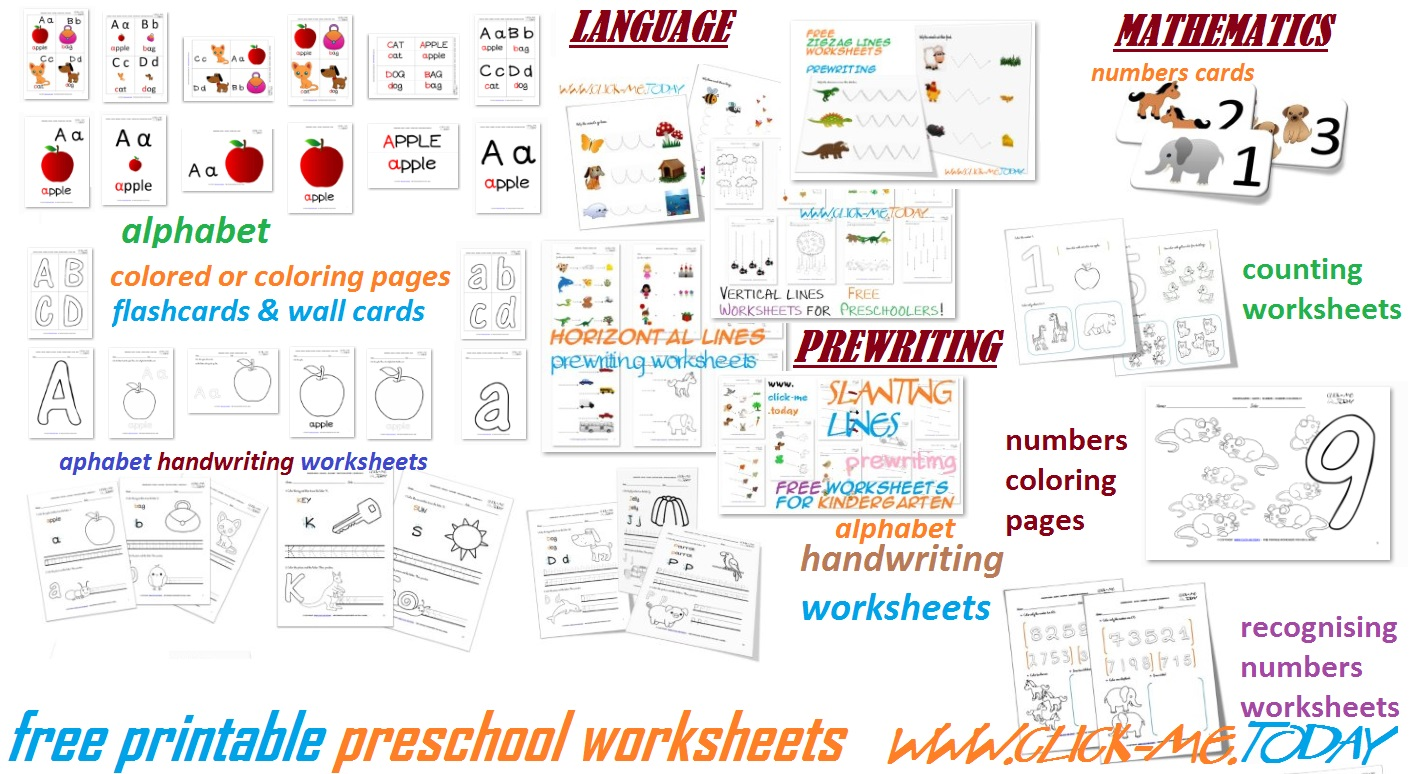 Free printable preschool worksheets for toddlers