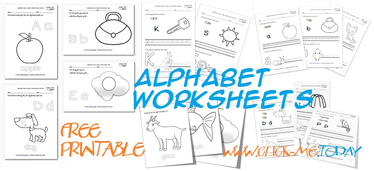 Free printable alphabet worksheets for ESL, Kindergarten