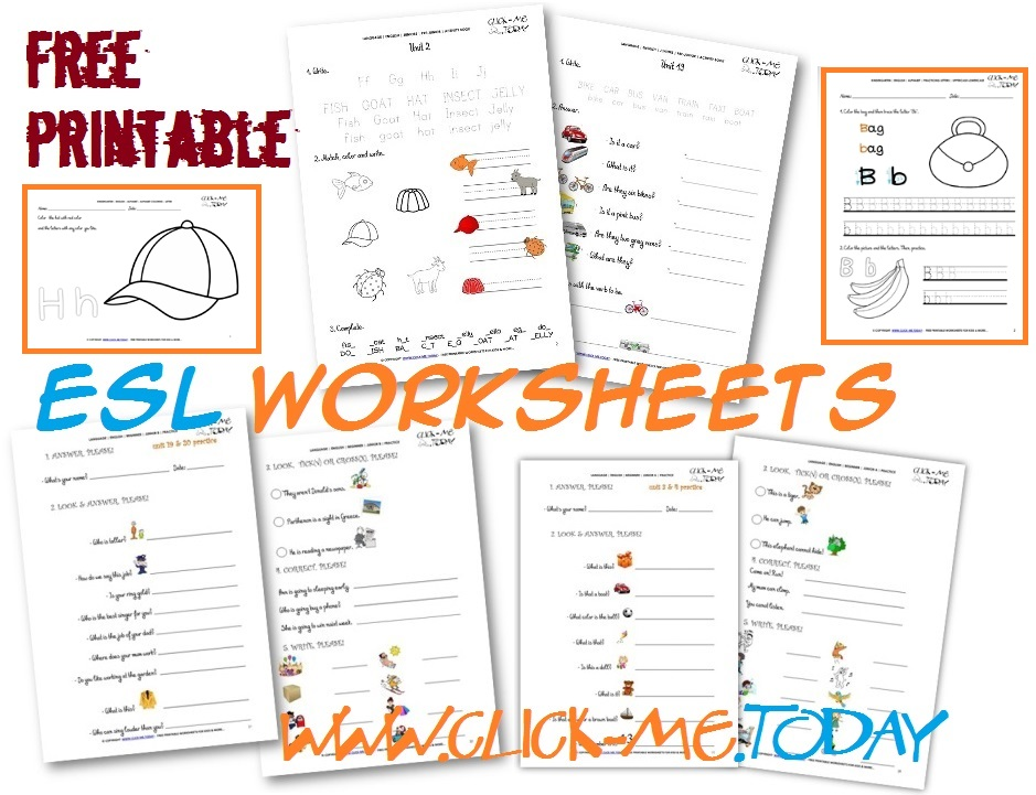 Free printable ESL worksheets for Beginners