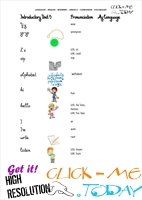 FREE PRINTABLE BEGINNER ESL JUNIOR A VOCABULARY SHEET 5 - ALPHABET