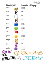 FREE PRINTABLE BEGINNER ESL JUNIOR A VOCABULARY SHEET 7 - COLORS
