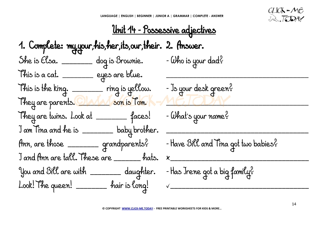 Www Grammar Worksheets Com Answers Worksheets For School pigmu – Conjuguemos Grammar Worksheet Answers