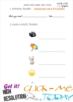 FREE PRINTABLE BEGINNER ESL JUNIOR A PRACTICE WORKSHEET  IU3&4 A