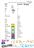 FREE PRINTABLE BEGINNER ESL JUNIOR B VOCABULARY SHEET 6 - PARTS OF DAY