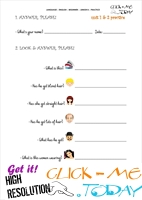 FREE PRINTABLE ENGLISH PRACTICE WORKSHEET - JUNIOR B - U1&2 A