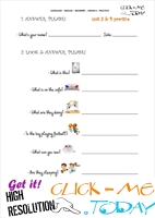 FREE PRINTABLE ENGLISH PRACTICE WORKSHEET - JUNIOR B - U3&4 A