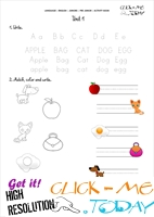 FREE PRINTABLE BEGINNER ESL PRE-JUNIOR WORKSHEET 1 - ALPHABET
