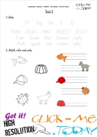 FREE PRINTABLE BEGINNER ESL PRE-JUNIOR WORKSHEET 2 - ALPHABET