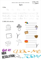 FREE PRINTABLE BEGINNER ESL PRE-JUNIOR WORKSHEET 5 - ALPHABET