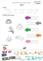 FREE PRINTABLE BEGINNER ESL PRE-JUNIOR WORKSHEET 7 - COLORS