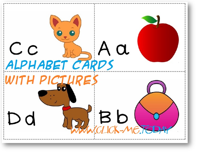 Alphabet cards with pictures - Free printable Alphabet cards