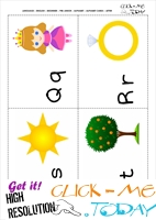 Alphabet cards with pictures QRST