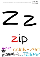 Alphabet flashcard without picture letter Z