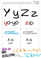 Alphabet flashcards without pictures YZ