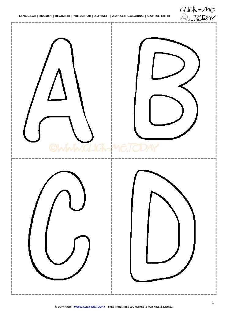 Free Alphabet capital letters cards
