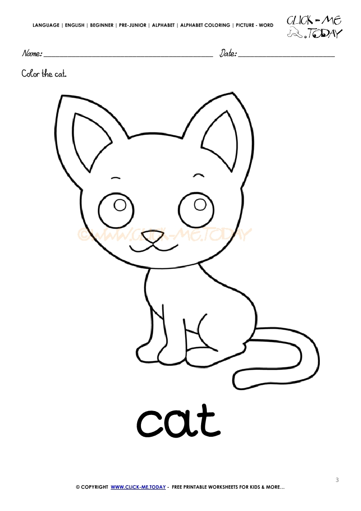 English Alphabet Coloring Pages With Words