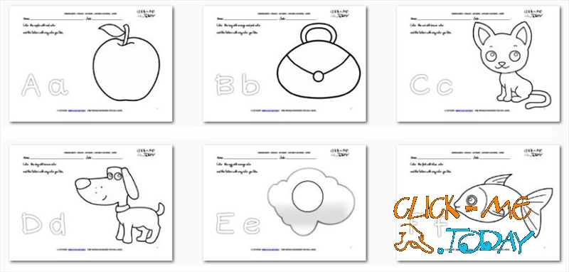ALPHABET COLORING PAGES - PRINTABLE ALPHABET COLORING SHEETS