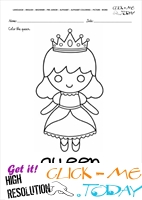 English alphabet coloring pages with words - English alphabet coloring pages with words - Q