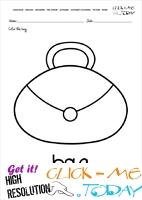 English alphabet coloring pages with words - English alphabet coloring pages with words - B