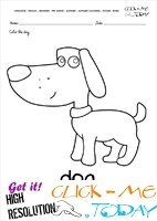 English alphabet coloring pages with words - English alphabet coloring pages with words - D