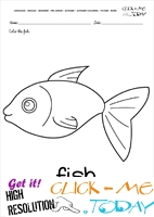 English alphabet coloring pages with words - English alphabet coloring pages with words - F
