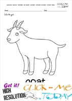 English alphabet coloring pages with words - English alphabet coloring pages with words - G