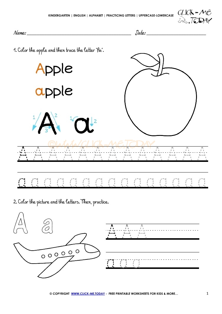 letter a activity sheet alphabet tracing worksheets how to write letter a 9587