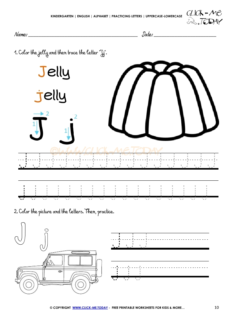 Alphabet tracing worksheets how to write letter j alphabet tracing worksheets letter j aljukfo Image collections