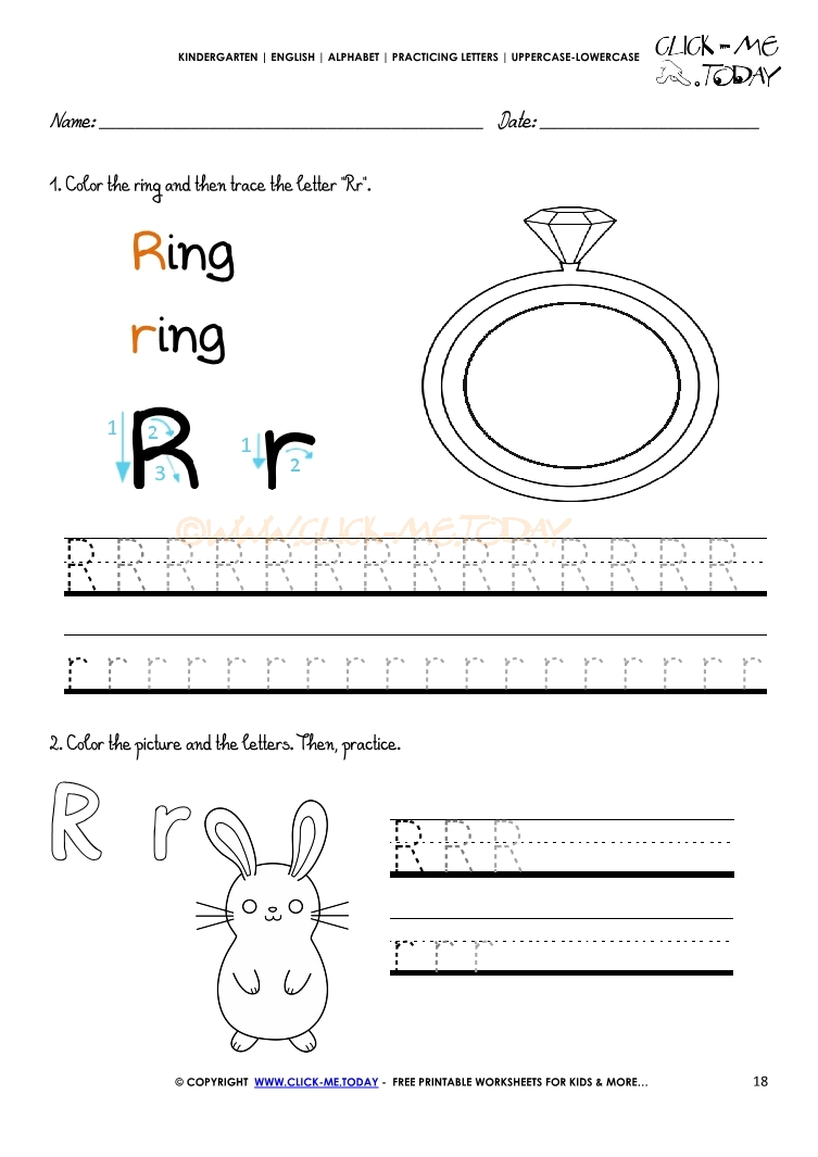 alphabet tracing worksheets how to write letter r. Black Bedroom Furniture Sets. Home Design Ideas