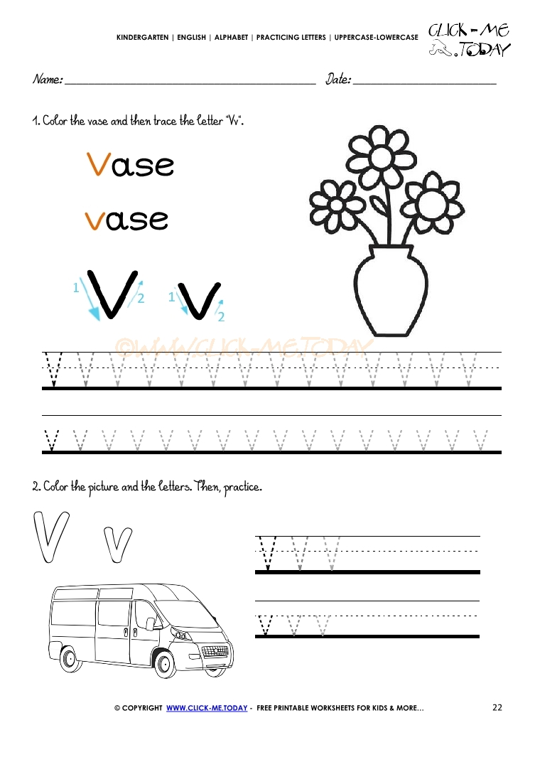 writing worksheets for kindergarten Learn to recognize, read, and write letters of the alphabet dozens of free worksheets for learning the abcs includes uppercase (capital) and lowercase letters.