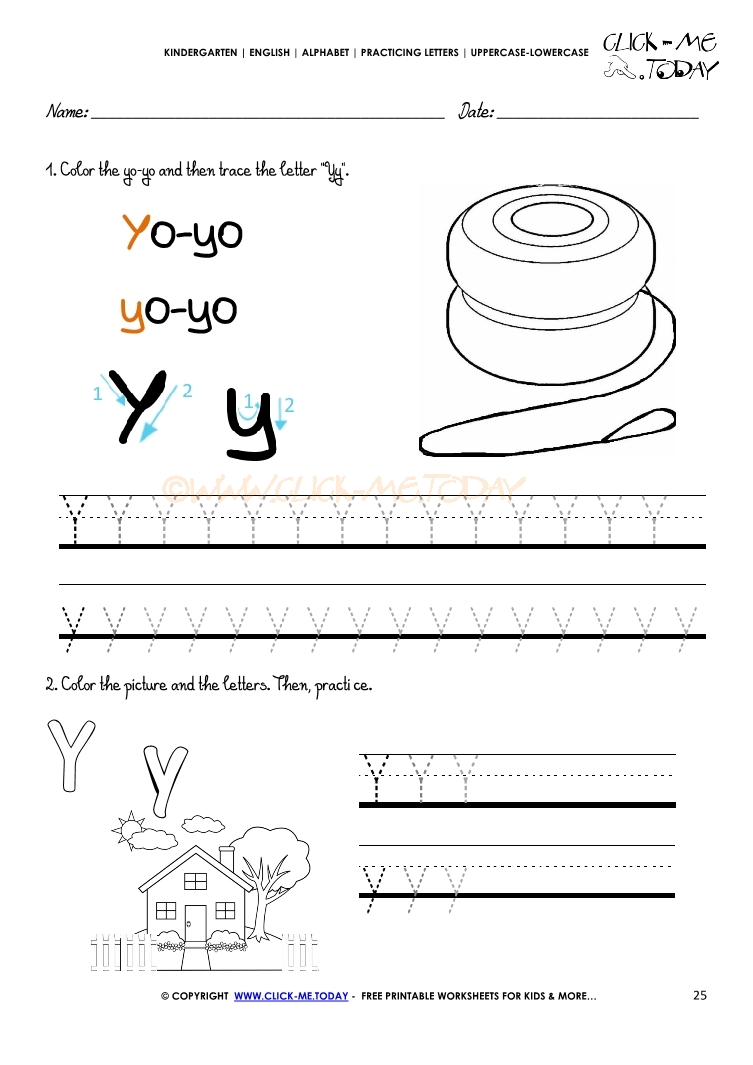 worksheet Letter Y Worksheet alphabet tracing worksheets how to write letter y y