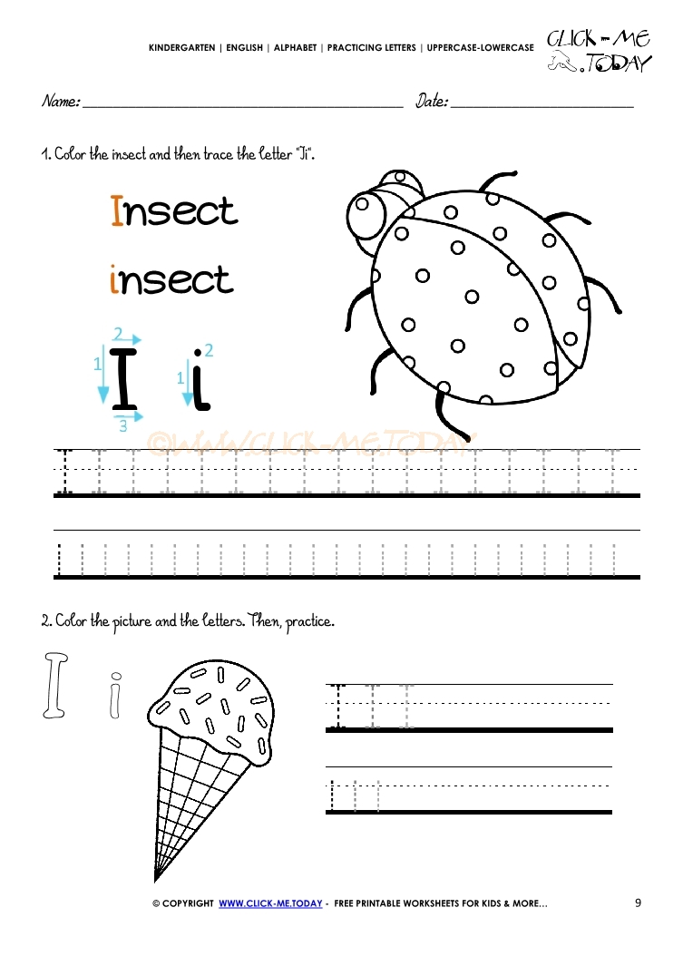 - Alphabet Tracing Worksheets - How To Write Letter I