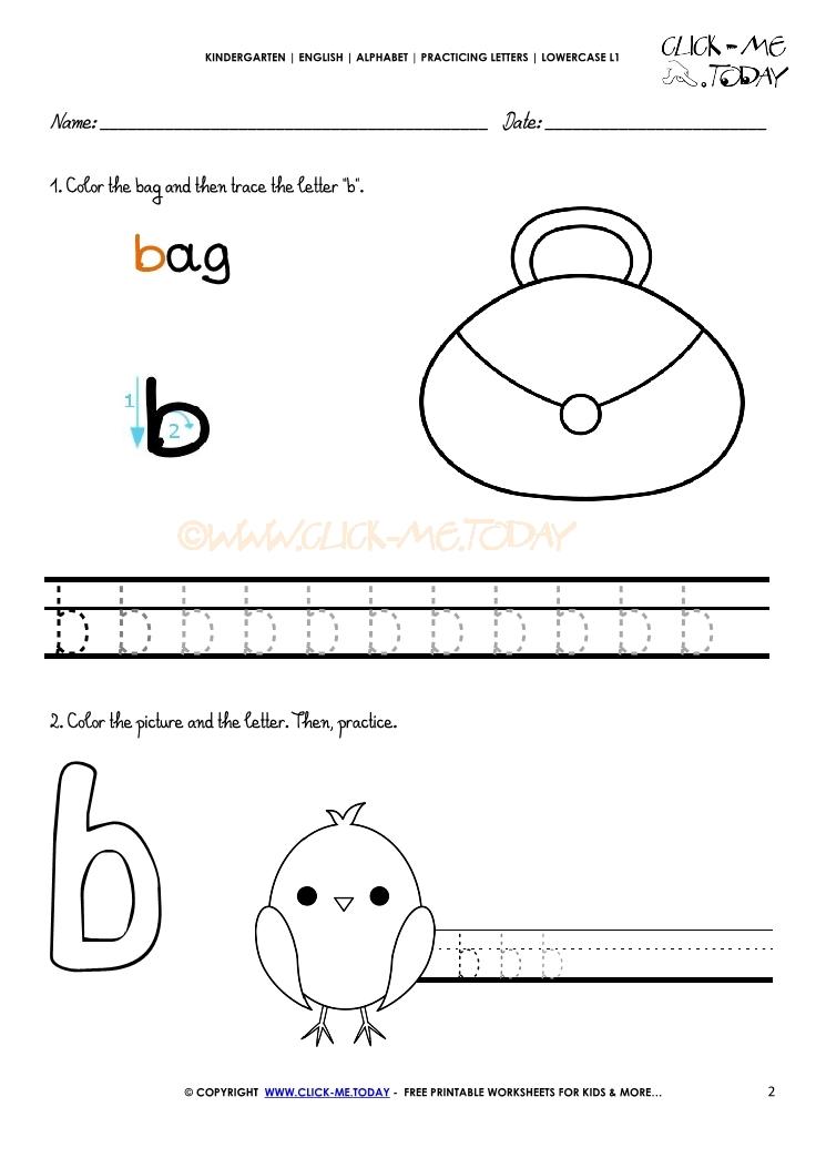 Alphabet writing worksheet for