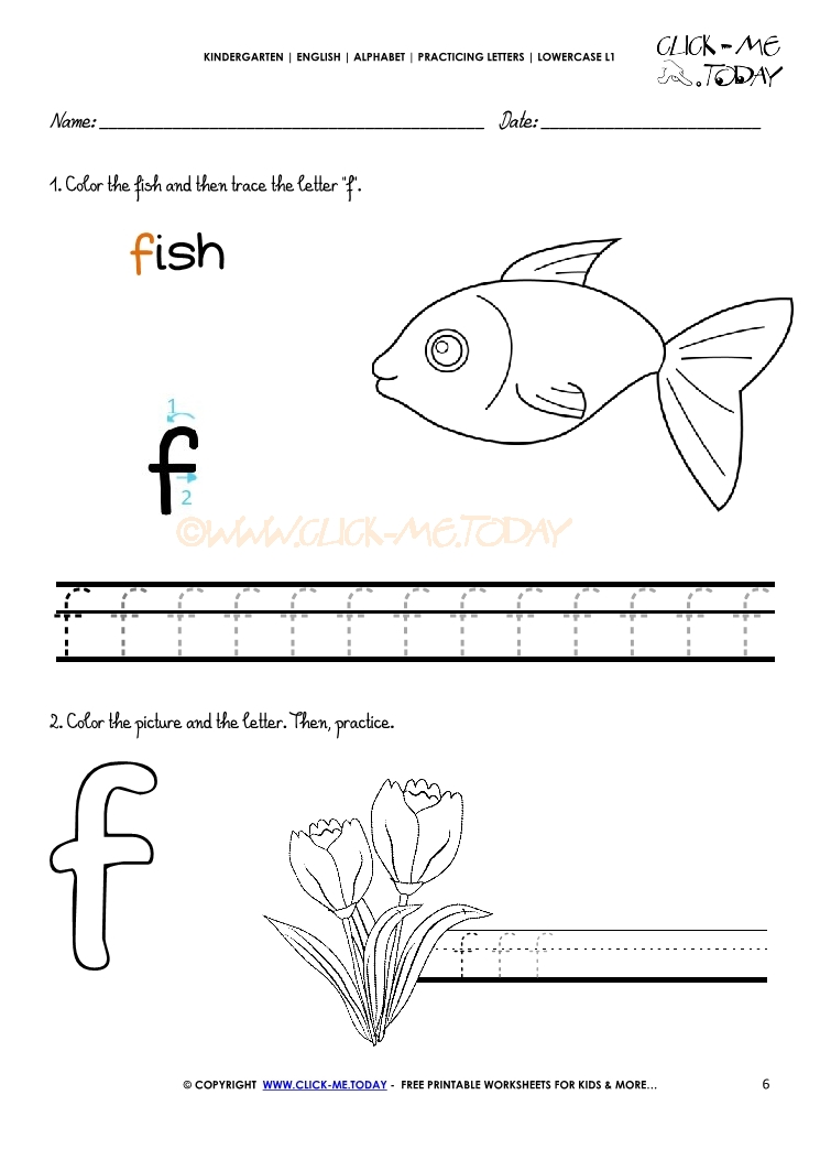f alphabet printable worksheets for kindergarten f best