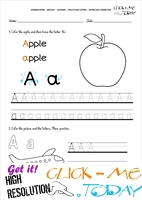 Alphabet tracing worksheets - Letter A
