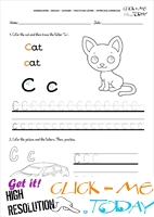 Alphabet tracing worksheets - Letter C