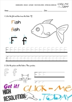 Alphabet tracing worksheets - Letter F